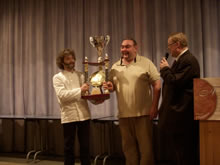 優勝したルピヌ氏(左)2007年優勝コラン氏<br /> (右)(撮影:松浦)